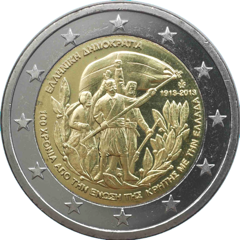 Greece 2013 - 2 euro commemorative 100th anniversary of the annexation of Crete to Greece.