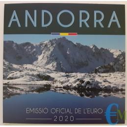 Andorra 2020 - Divisionale Euro Ufficiale - 8 valori esterno