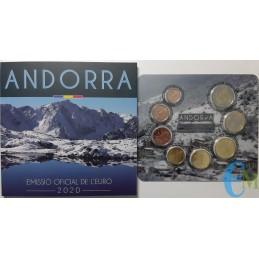 Andorra 2020 - Divisionale Euro Ufficiale - 8 valori