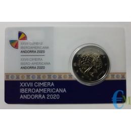 2 euro 27° Vertice Iberoamericano FS Fondo Specchio card
