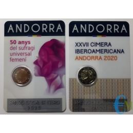 Andorre 2020 - Lot 2 euros...