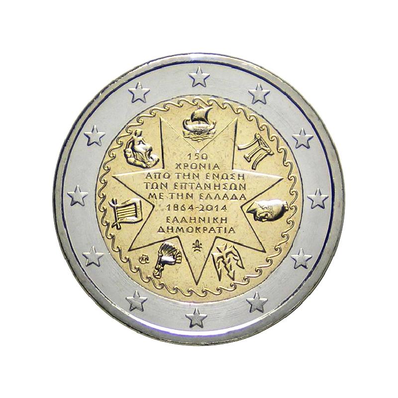 Grèce 2014 - 2 euros commémorative du 150e anniversaire de l'annexion des îles Ioniennes à la Grèce.