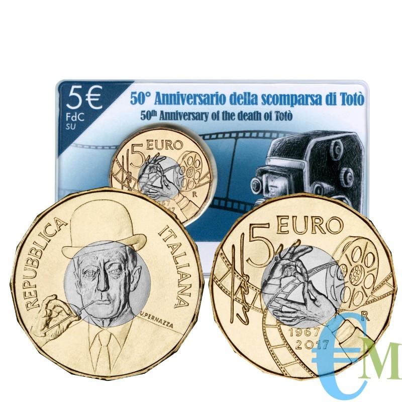 5 euro 50° Anniversario della scomparsa di Totò