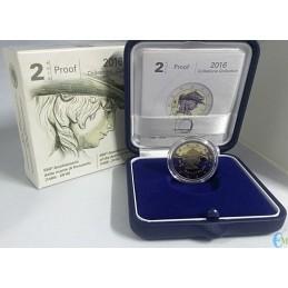 2 euro Proof 550° Anniversario della morte di Donatello con cofanetto