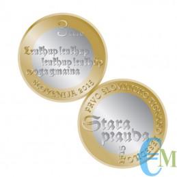 3 euro Bimetallico 500° Primo testo stampato