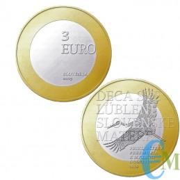3 euro Bimetallica 100° adesione regione Transmurania