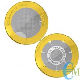 3 euro Bimetallico 100° Medaglia Olimpica Rudolf Cvetko