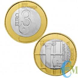 3 euro Bimetallico Lubiana Capitale Mondiale Libro