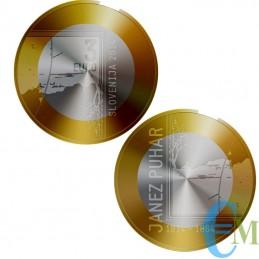3 euro Bimetallica 200° nascita Janez Puhar