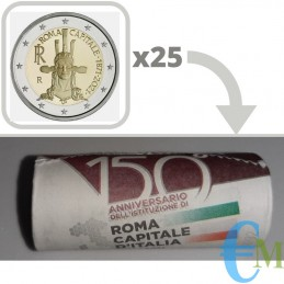 Roll 2 euro 150th Rome Capital of Italy - Special Series