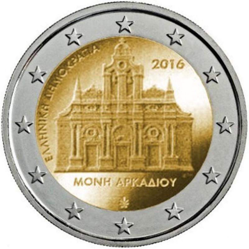 Grecia 2016 - 2 euro commemorativo 150° anniversario del rogo del Monastero di Arkadi.