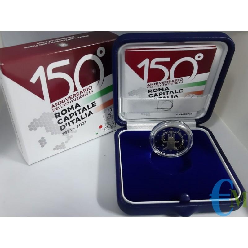 2 euro Proof 150° Roma Capitale d'Italia