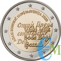 2 euro commemorativo 500° anniversario della nascita di Adam Bohorič