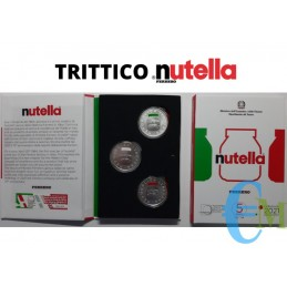 Triptych 5 Euro NUTELLA® of the Ferrero Group - Italian Excellence Series