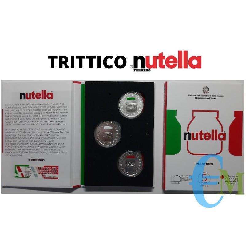 5 euro Eccellenze Italiane - Trittico Nutella - Bianca Verde Rossa