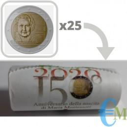 Rotolino 2 euro 150° nascita Maria Montessori - Serie Speciale
