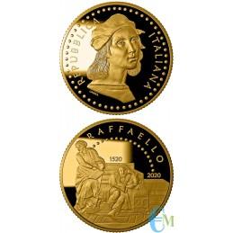 20 euro 500° Anniversario della morte di Raffaello Sanzio in Oro moneta