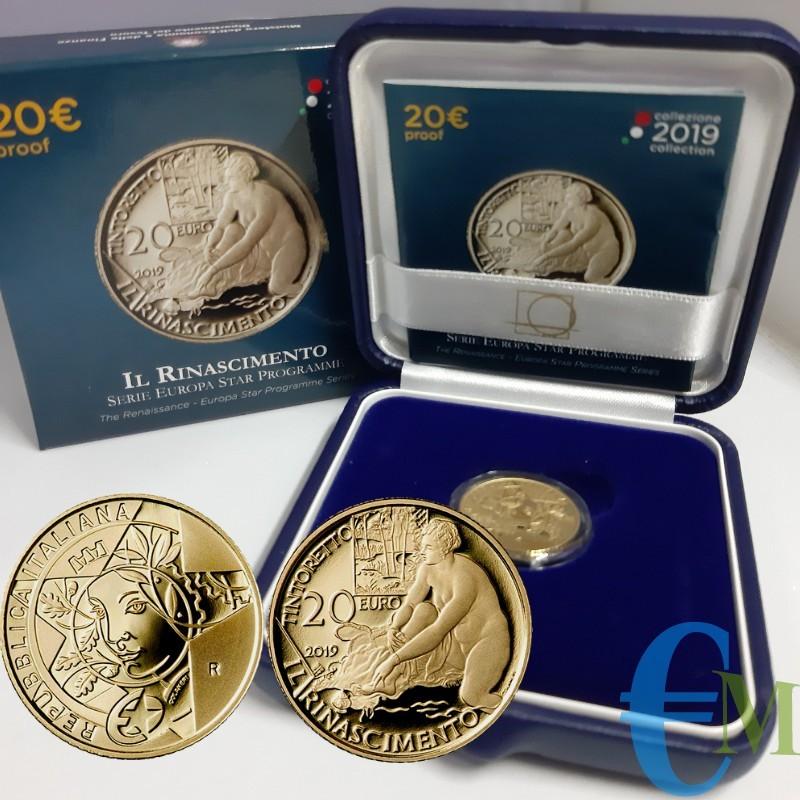 20 euro 500° Anniversario della Nascita di Tintoretto in Oro