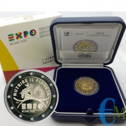 Italia 2015 - 2 euro Proof World Expo Milano 2015