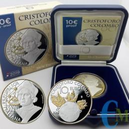 Italie 2019 - 10 euros Christophe Colomb - Série Explorateurs