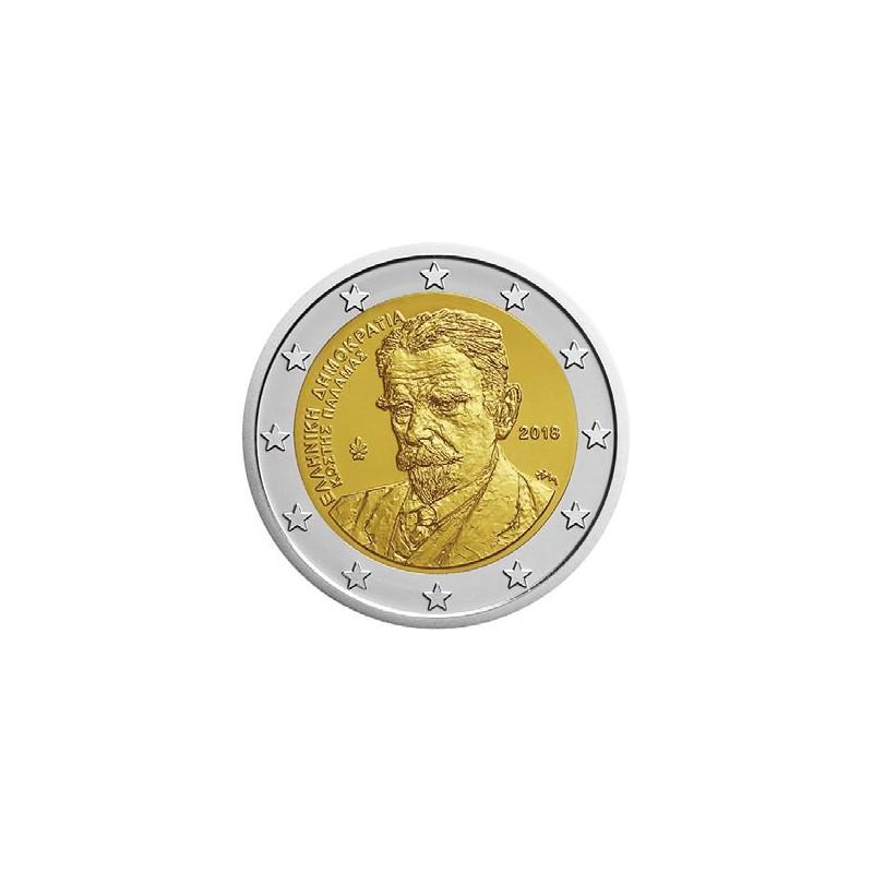 Grecia 2018 - 2 euro commemorativo 75° anniversario della morte di Kostis Palamas (1859 - 1943), poeta e giornalista greco.