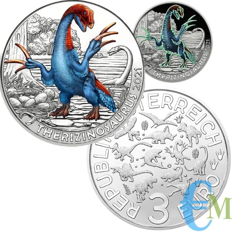 3 euro Therizinosaurus cheloniformis