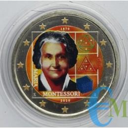 2 euro Colorato 150° nascita Maria Montessori