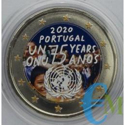 2 euro Colorato 75º dell'Organizzazione delle Nazioni Unite