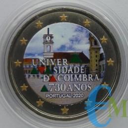 2 euro Colorato 730º dell'Università di Coimbra