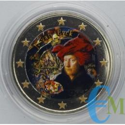 2 euro Colorato 630° nascita Jan van Eyck