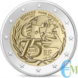 2 euro 75° anniversario dell'UNICEF