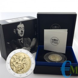 Francia 2020 - 2 euro Proof 50° morte Charles de Gaulle
