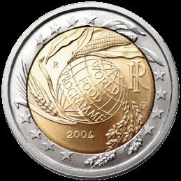 Italia 2004 - 2 euros conmemorativos del 50 aniversario de la creación del Programa Mundial de Alimentos.