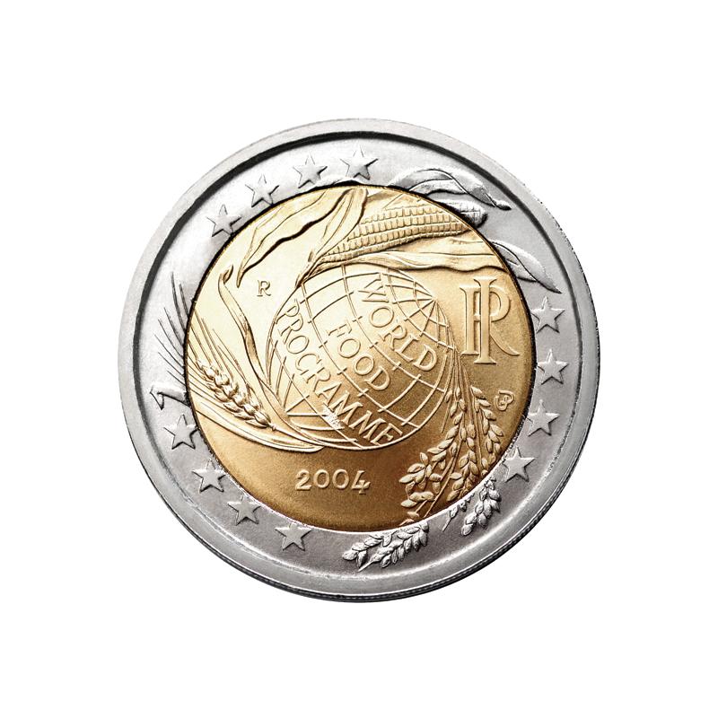 Italy 2004 - 2 euro commemorative 50th anniversary of the establishment of the World Food Program.