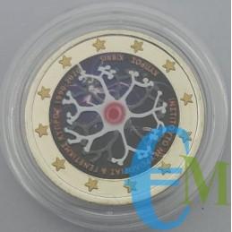 2 euro Colorato 30° Fondazione Istituto di Neurologia e Genetica
