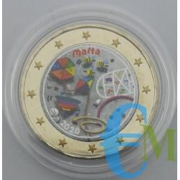 2 euro commemorativo colorato I Giochi 5° moneta della serie 'Dai Bambini con Solidarietà'