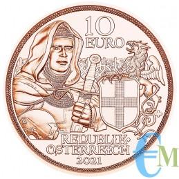 10 euro Cavalieri Templari ''Fraternità'' dritto