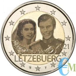 2 euro commemorativo 40º anniversario di matrimonio del Granduca Enrico con Maria Teresa versione foto.