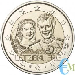 2 euro 40º matrimonio del Granduca Enrico versione in rilievo