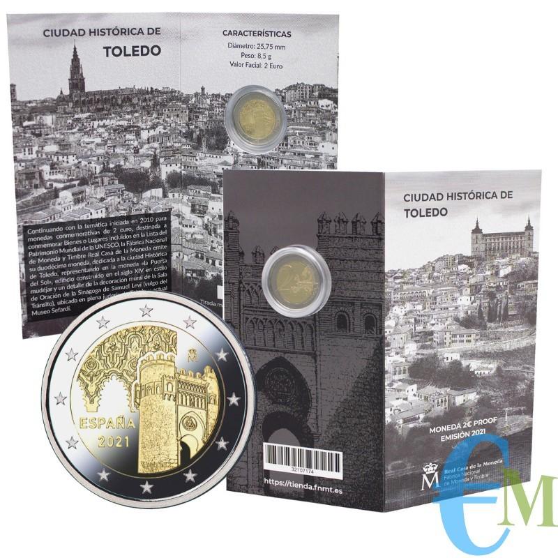 2 euro Proof città storica di Toledo - 12° moneta