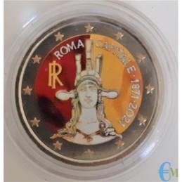2 euro Colorato 150° Roma Capitale d'Italia