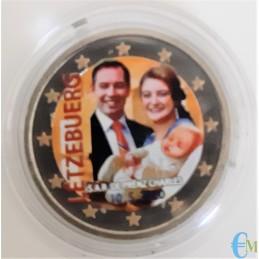 2 euro colorato 40º matrimonio del Granduca Enrico