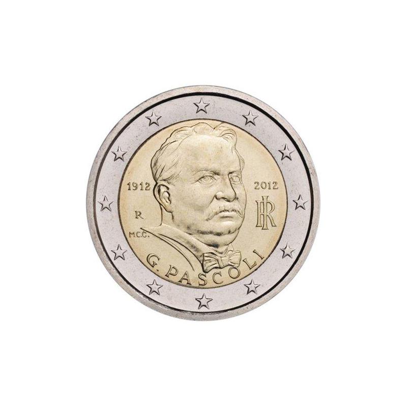 Italia 2012 - 2 euro commemorativo 100° anniversario della morte di Giovanni Placido Agostino Pascoli