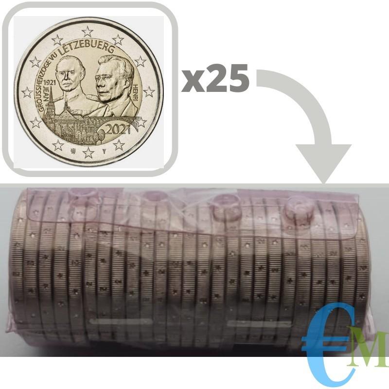 Rotolino 2 euro 100º nascita del Granduca Giovanni versione in rilievo