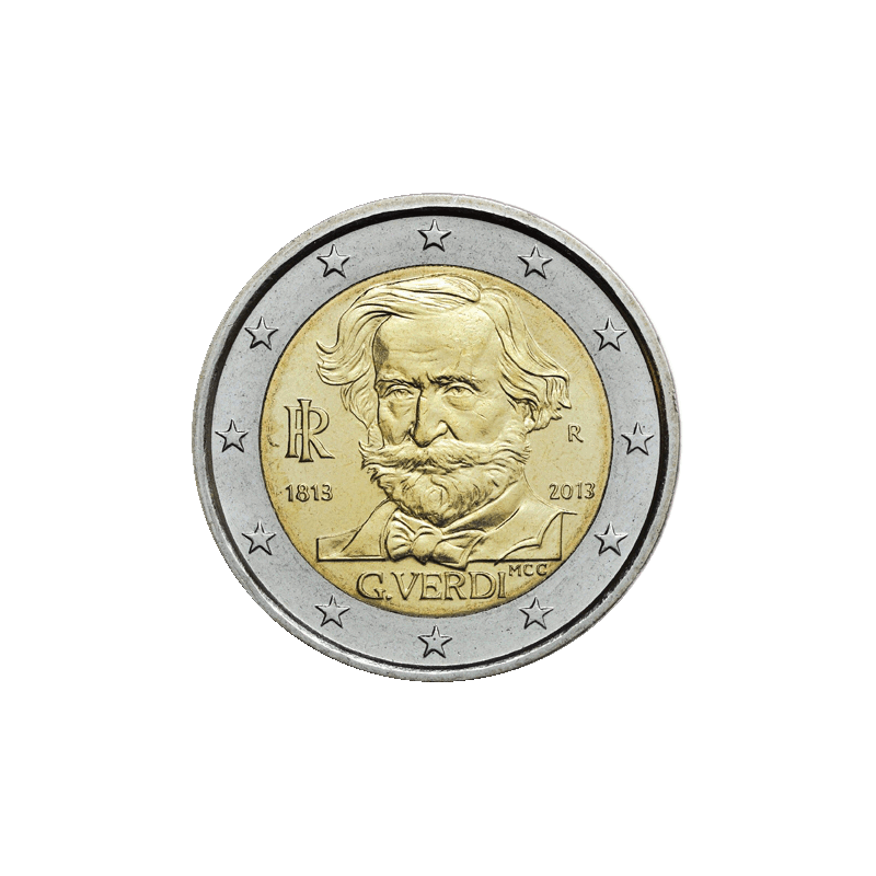 Italia 2013 - 2 euro commemorativo 200° anniversario della nascita di Giuseppe Fortunino Francesco Verdi