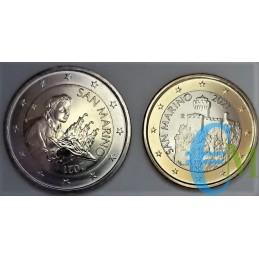 Lotto 2 e 1 euro normale San Marino 2021