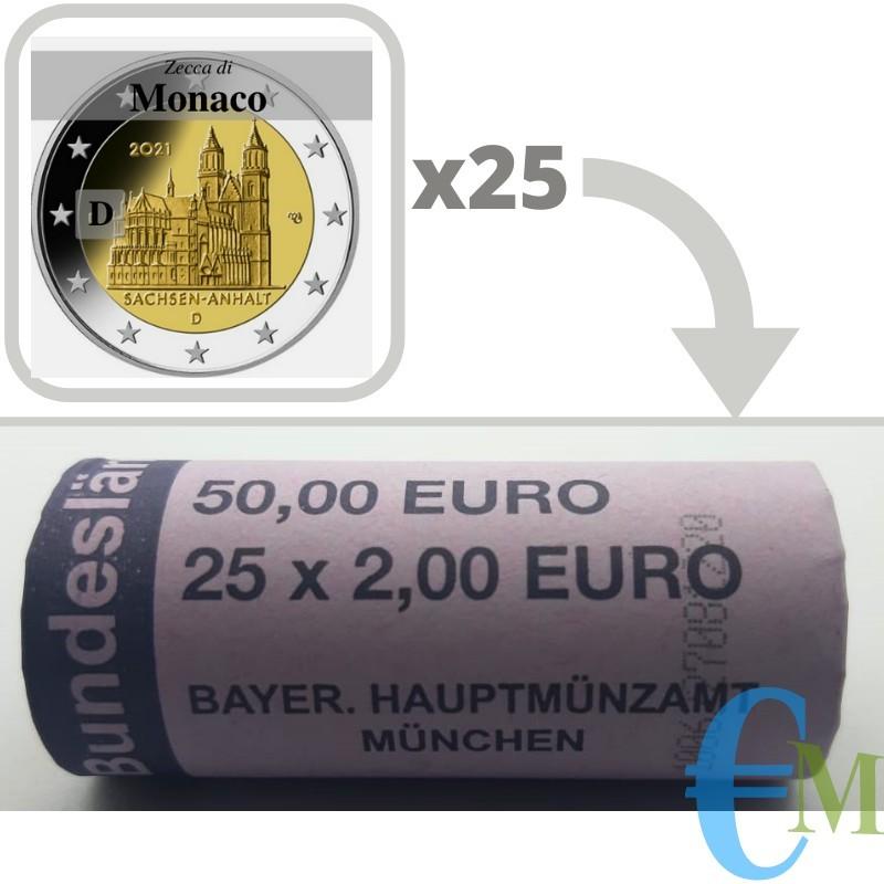 Rotolino 2 euro Cattedrale di Magdeburgo - zecca D