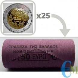 Rotolino 2 euro 200º anniversario della Guerra d'indipendenza greca