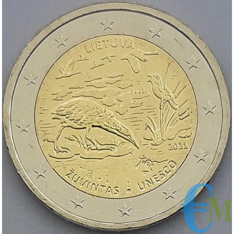 Lithuania 2021 - 2 euro Žuvintas Biosphere Reserve