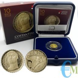 Italia 2021 - 10 euro oro Costantino - Serie Imperatori Romani